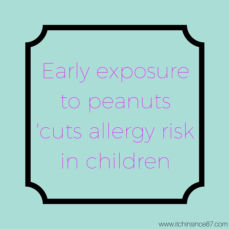 Early exposure to peanuts 'cuts allergy risk in children'